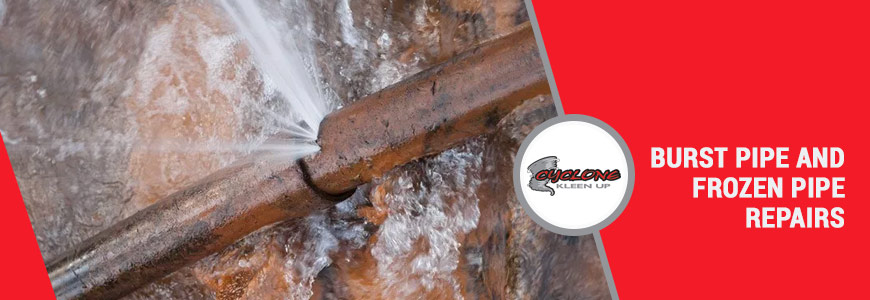 Burst Pipe and Frozen Pipe Repairs in Pueblo and Colorado Springs, CO
